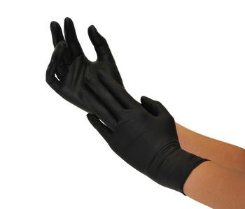 Examination Gloves -Black Nitrile _Powder Free- Box 100